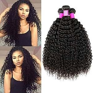 pelo humano rizado natural pelo humano brasileño cabello virgen brasileño extensiones de cabello color negro natural 10 12 14 pulgadas (100 +/-5g)/ pc,total 300g