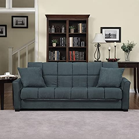 Baja Convert-a-couch and Sofa Bed, Multiple Colors (Medium Blue)