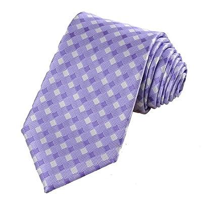 KissTies Mens Tie Plaid Necktie Check Ties
