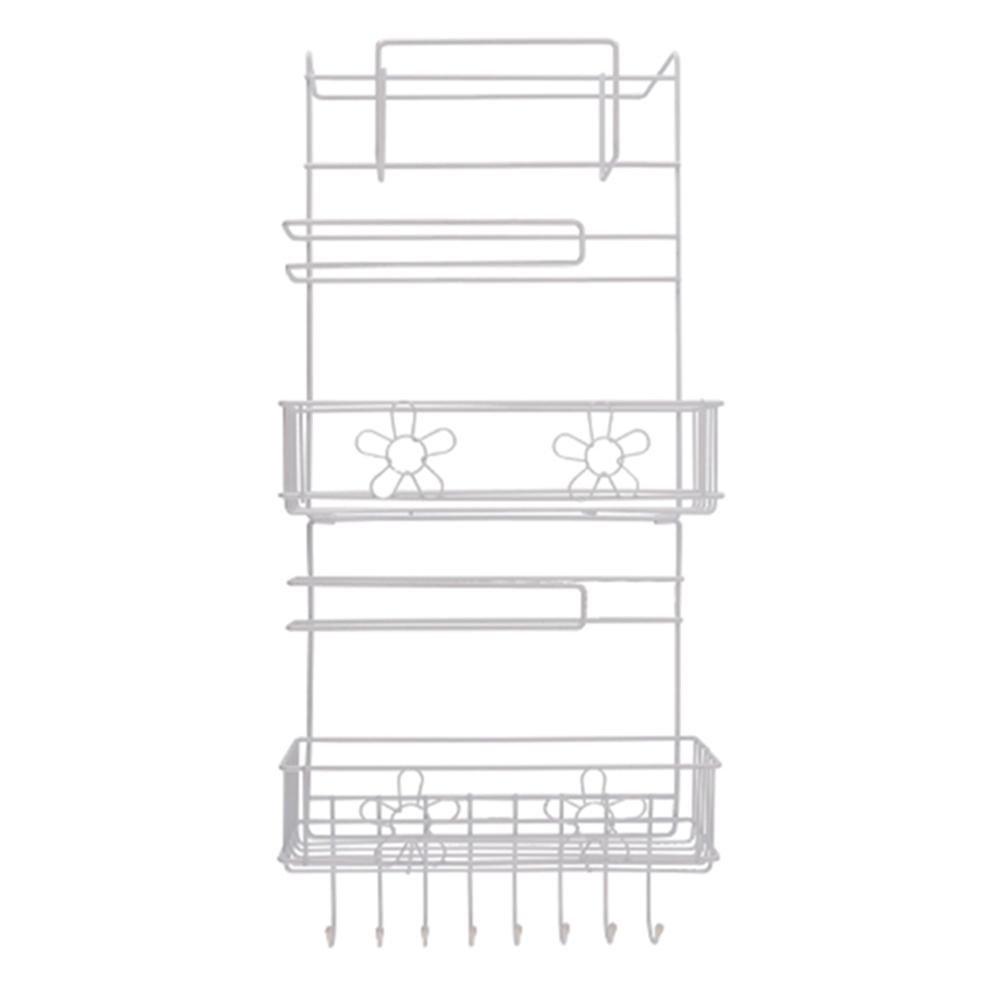 Matefield Sunflower Multipurpose Fridge Wall Storage Rack Sidewall Multi-layer Shelf