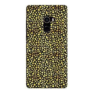 Cover It Up - Gold Black Pebbles Mosaic Mi Mix 2 Hard Case