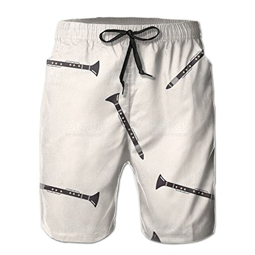 (Leisue Nail Music Clarinet Quick Dry Lace Boardshort Beach Shorts Pants Swim Trunks Popular Boys Swimsuit with)
