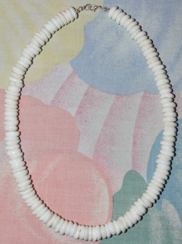 Native Treasure - Real Puka Shell Necklace with Lobster Clasp- Large Shells - 22