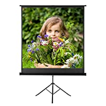 "Excelvan 100"" Diagonal 16:9 Aspect Ratio 1.1 Gain Portable Pull Up HD Video Projector Screen For Indoor Outdoor Movies Projection with Stable Stand Tripod"