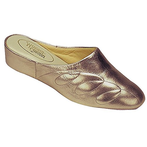 Chaussons Ladies Chaussures Femmes Mahon Etain Cincasa Slip On Cuir Pantoufle wZXTp1q