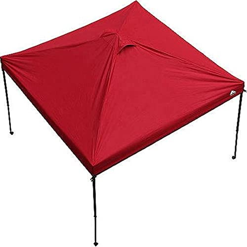 Ozark Trail 10 x 10 Gazebo Canopy Top – Red Color Canopy Top Only . Includes 1 10 Feet X 10 Feet Canopy Top Only, and 1 Carrying Bag With Handle and Zipper. Canopy Frame Is Not Included.