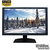 101AV Security Monitor 19.5-Inch True Full HD 1080P 1920x1080 HDMI VGA and Looping BNC output Wide Screen Audio Video Display monitor 2.5D comb Filter DVR Home Office Surveillance Optional Mount