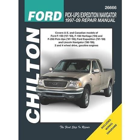amazon com: chilton total car care ford pick-ups/expedition/navigator, 97-09  (26666): automotive
