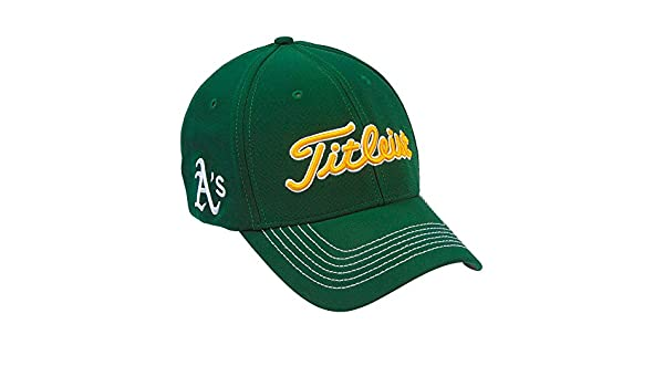 6a8103d49c8 Amazon.com  Titleist MLB Oakland Athletics Fitted Cap M L  Clothing