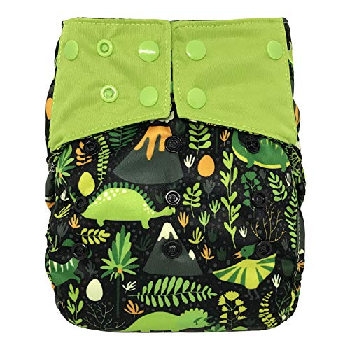 Reusable Waterproof Diaper Cover Shell: for Baby Prefold Cloth Diapers, Flats or Inserts (Jurassic Park)