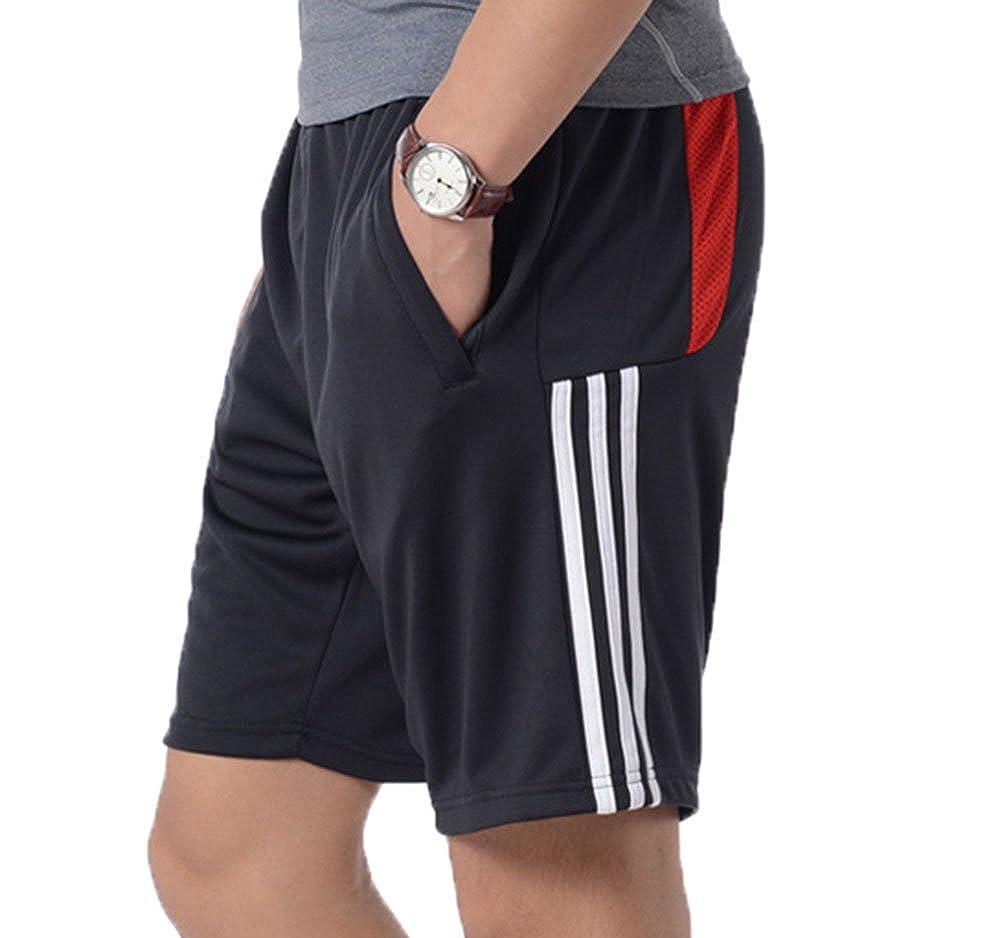 Shorts de Sport avec Poches zipp/ées Respirant /à s/échage Rapide l/éger l/éger Gym Fitness Stretch Pantalons S-XXL Shorts dentra/înement pour Hommes