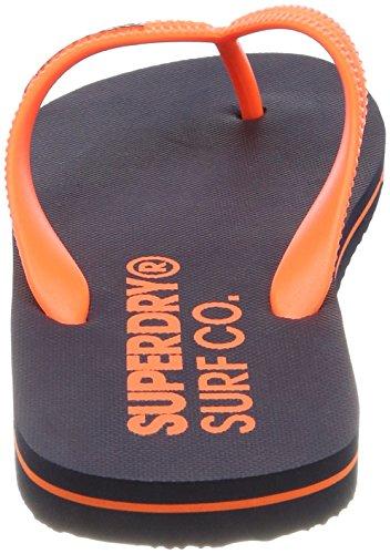Superdry Herren Sleek Flip Flop Zehentrenner Blu (Navyhavana Orange)