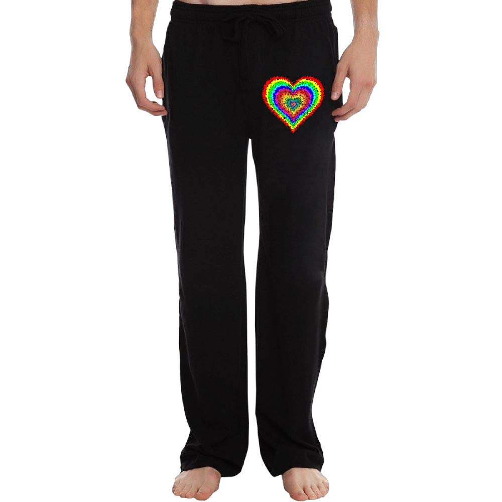 Athletic Tye Dye Heart 100/% Cotton Running Pants PT25dw-2 Long Sweatpants Mens