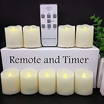 flameless votive candles with remote kohree led votive unscented battery powered 8947