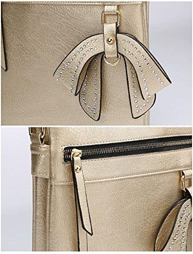 Messenger Bow Body MA34956 Handbag Beige Bag Bag Charm Women's Travel Cross Ladies Shoulder qgUwHSTESx