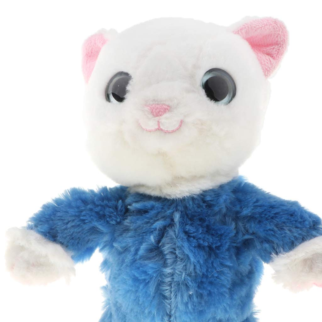Blue Color Talking /& Walking Cat Plush Toy Funny Stuffed Toy for Kids Toddler Repeat What You Say
