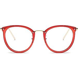 95e0c0771c Amomoma Fashion Round Eyewear Frame Eyeglasses Optical Frame Clear Lens  Glasses AM5001