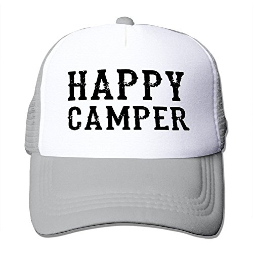 Jade Unisex-Adult Two-toned Cap Happy Camper Poster Hip Hop CapHat Ash