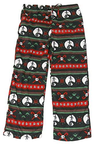 Men's Nightmare Before Christmas Ugly Sweater Fleece Pajama Pants (XL, (Mens Disney Pajamas)