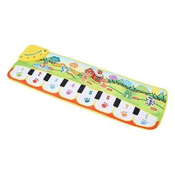 Alfombra de música para bebés, teclado de piano Estera musical Toque Manta musical Juguetes para niños Educación temprana para bebés Actividad de canto ...