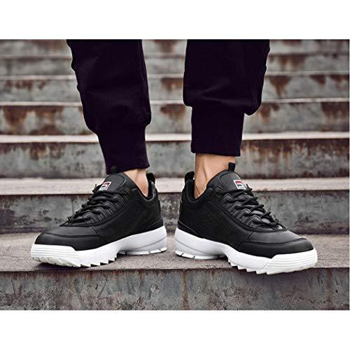 Viejo Deportes Ins Running Al Wild De 41 Para Los a Fashion Otoño Hombres Marea Grueso Casual Hombre Fondo Zixuap Cómodo Libre Zapatos Aire La A4EwqEO