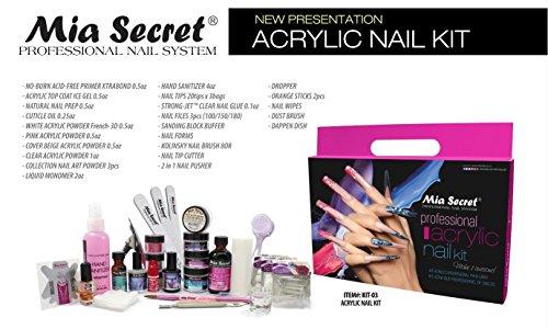 Mia Secret Professional Acrylic Nail Set For Beginners (Kit-03) by Mia Secret