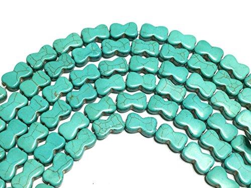 Beads Shaped Bone (Fine Turquoise bone shaped 8mm Gemstone beads Stone - beading supplies for jewelry making)