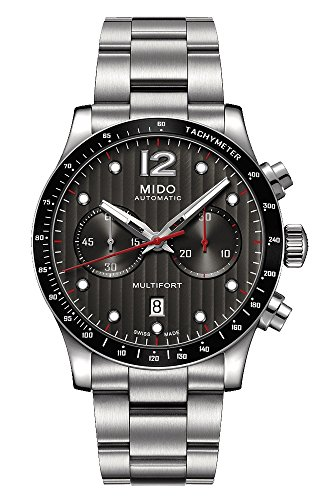 Chronograph Automatic Gents Watch - Mido Multifort Chronograph Automatic Mens Watch M025.627.11.061.00