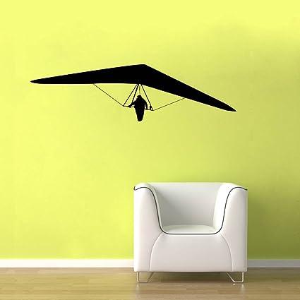 Amazon com: Hang Glider - Black Shape Design Wall Decal - 22