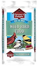 Wagner\'s 53003 Farmer\'s Delight Wild Bird Food, With Cherry Flavor, 20-Pound Bag