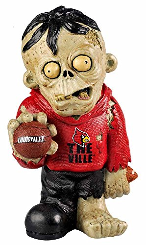 Ncaa Figurine (NCAA Louisville Cardinals Resin Thematic Zombie Figurine with Basket Ball, One Size, Red)