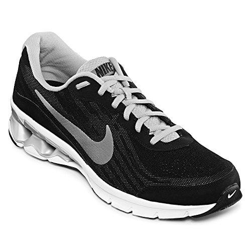Nike Mens Reax Run 9 Black/Metallic Silver/Dark Grey/White Running (Nike Reax Run)