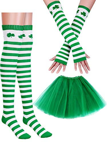 Boao Women's Costume Accessories Set Includes Tutu Skirt Long Socks Gloves for Party Accessory (Color Set 1)]()