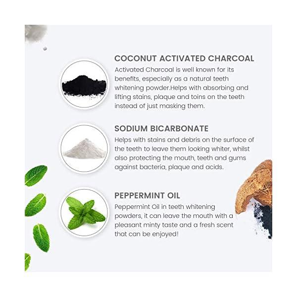 Blanqueador Dental Carbón Activado y Cepillos Bambu Natural mysmile - 100% Natural y Vegano, Rico en Bicarbonato de… 5
