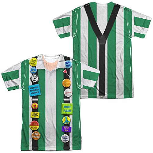 [Sublimation Front/Back: Office Space - Chotchkies Costume All Over Print T-Shirt] (Office Space Costume)