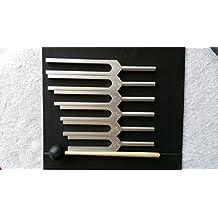 Set of 6 Solfeggio Tuning Forks--396Hz, 417Hz, 528Hz, 639Hz, 741Hz, 852Hz