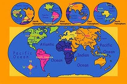 Amazon.com: World Map 7x10 Educational Area Rug Non Slip ... on world map projections, world map zoom out, world globe with compass, world flat earth map, world map by population, world map correct size, world map showing all countries, world map dimensions, world map bedroom decor, world map accurate size, map of the world by size, world map dual monitor wallpaper, world map clear view, united states map true size, world map adjusted for population, world map of the wall, world map group, world map one page,