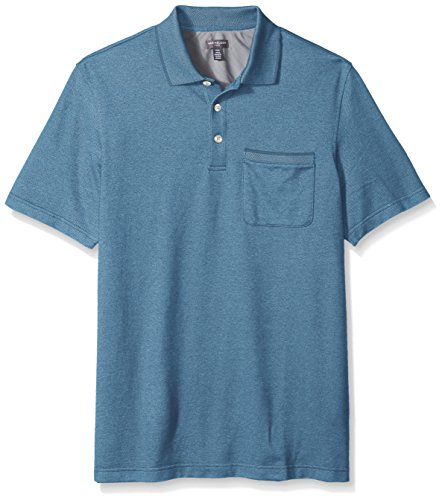 Van Heusen Men's Big and Tall Flex Short Sleeve Polo, Deep Blue, 3X-Large (Short Sleeve Knit Polo Shirt)