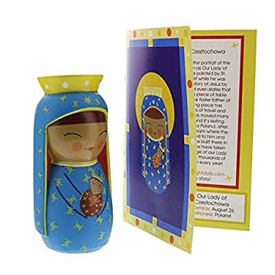 Shining Light Dolls Our Lady of Czestochowa of Poland Collectible Vinyl Doll: Toys & Games