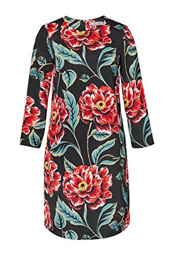 Kleid Multicolor Linie Hallhuber Linien A mit Blumendruck A 8W4qUxT