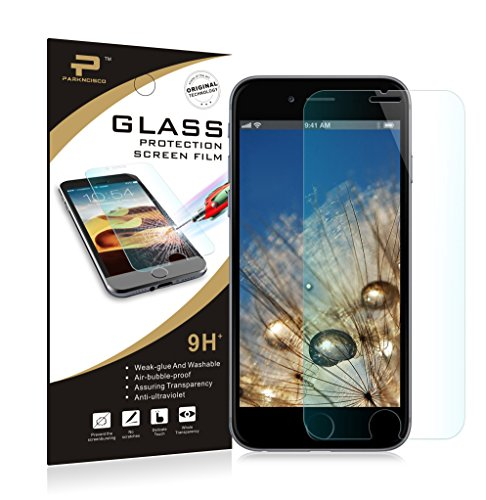 iPhone 6s Screen Protector,Parkncisco™9H Premium Tempered Glass Screen Protector Film for iPhone 6 (4.7'') 3D Touch Compatible Tempered Glass for iPhone 6s (4.7'') 0.15mm New Model