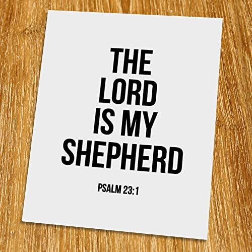 photo about Printable 23rd Psalm named : Psalm 23: 1, The Lord is my shepherd Print