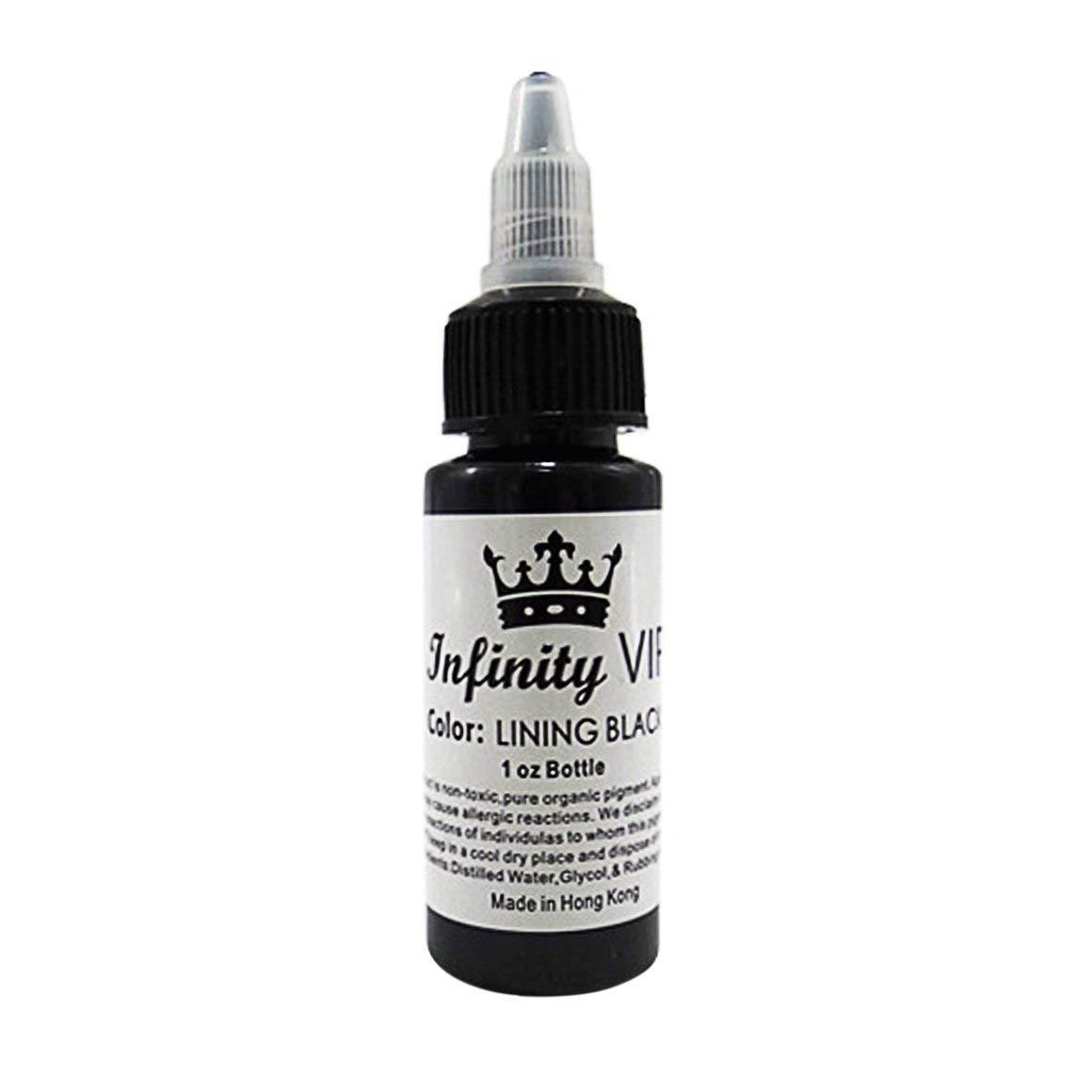Funnyrunstore 30ML / Bottle Tintas de Pigmento de Tatuaje Profesional Safe Half Permanent Tattoo Pinturas Suministros de Belleza Corporal Tattoo Art (Color: negro)