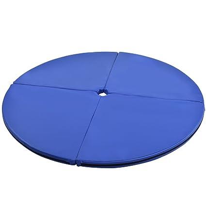 Amazon.com: Cojín de baile, diseño circular, color azul, 4.9 ...