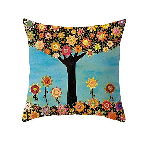 (❤SU&YU❤Natural Pattern Printing Dyeing Sofa Bed Home Decor Pillow Cover Cushion Cover (B))