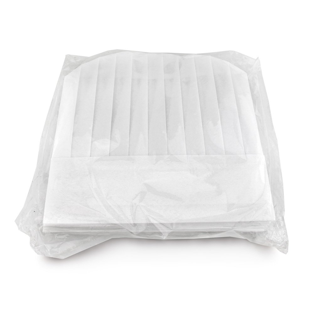 New Star 32185 Disposable Non Woven Round Chef Hat, 12-Inch, White, Set of 10 by New Star Foodservice (Image #3)