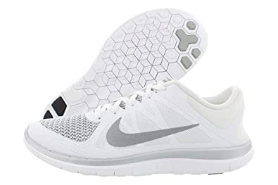 reputable site a840a 4be3a Image Unavailable. Image not available for. Color  Nike Men s Free 4.0 V4  White Grey Running Shoe ...