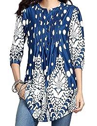 Zaimse Diseño Grafico de Las Mujeres de Gran tamaño Longitud de Muslo t Shirt Dress