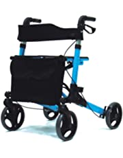 "Dr.Safe rollators, Aluminum Rollator, Folding Walker Rollator, Four 8"" wheels rollator with Height Adjustable Handle, Light weight Walker"