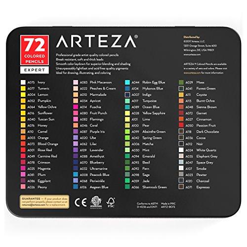 Arteza Professional Colored Pencils (Set of 72) Photo #5